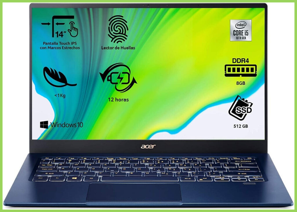 Acer Swift 5 SF514-54T: Review y opiniones 2020