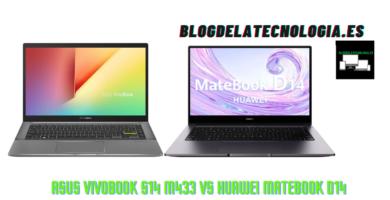 Asus Vivobook S14 M433 vs Huawei Matebook D14